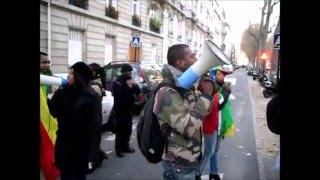 Les Congolais en colère contre Michaëlle JEAN manifestent devant l