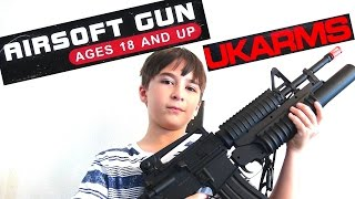 UKARMS Airsoft Assault Rifle review with Robert-Andre!