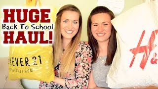 HUGE Back to School Haul 2014! Forever 21, H&M, American Eagle + MORE! Thumbnail