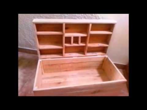 Baules y otros articulos con madera reciclada de palets for Cosas hechas de madera