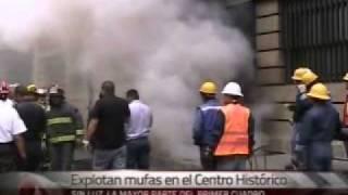 Las explosiones se dieron después de las 18:30 horas en tres distin...