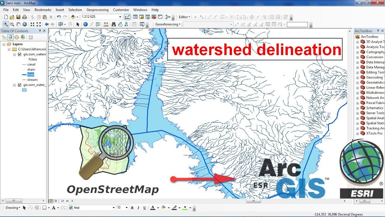 How to download watershed delineation from openstreetmap for how to download watershed delineation from openstreetmap for arcgis gumiabroncs Images