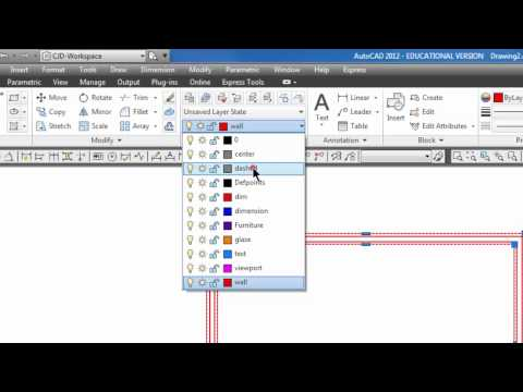 Autocad - Dashed Lines & Foundation Plan Part 2 #37