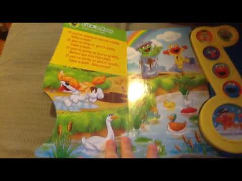 Sesame Street rubber duckie bath time tunes song book