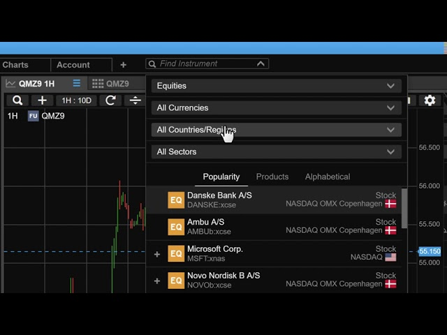 Performing an Advanced Search in ELANA Global Trader