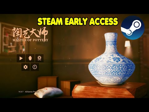 Master Of Pottery Video Game Simulator Steam Early Access By Xzulas Youtube