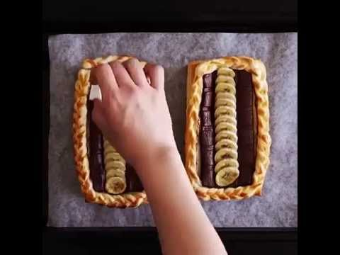 Банановый пирог с шоколадом!