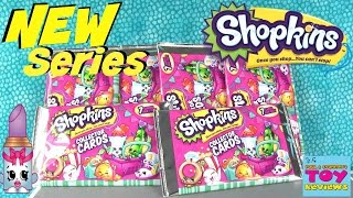 NEW Season 3 Shopkins Collector Cards Pack Opening | Toy Review | PSToyReviews