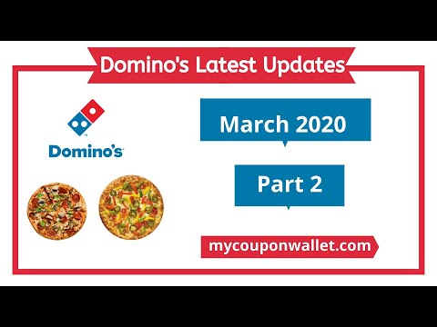 Domino's Latest Coupons 2020 | Domino's March 2020 Coupons & Offers | Pizza Offers & Discount