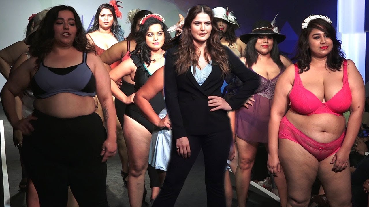 Download Zarine Khan Walked On Ramp For PARAFAIT Size Fashion As A Showstopper With Plus Size Models