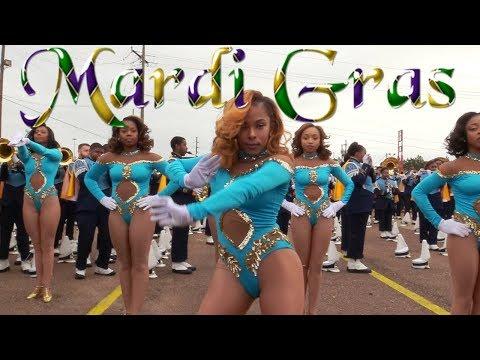 Dancing Dolls of Southern University Human Jukebox Marching Band - 2018 Mardi Gras Parade
