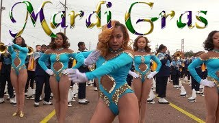 Dancing Dolls of Southern University Human Jukebox Marching Band - 2018 Mardi Gras Parade