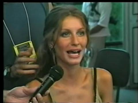 Gisele Bündchen, pelo programa de moda Over Fashion ,entrevistada por Francisco Chagas.