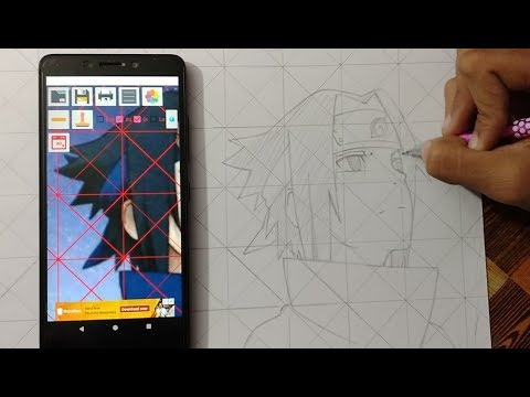 How To Draw Outlines Using Grid Method: Tutorial
