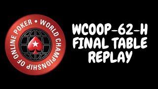 WCOOP 2018 | $25,000 NLHE Event 62-H with David Peters