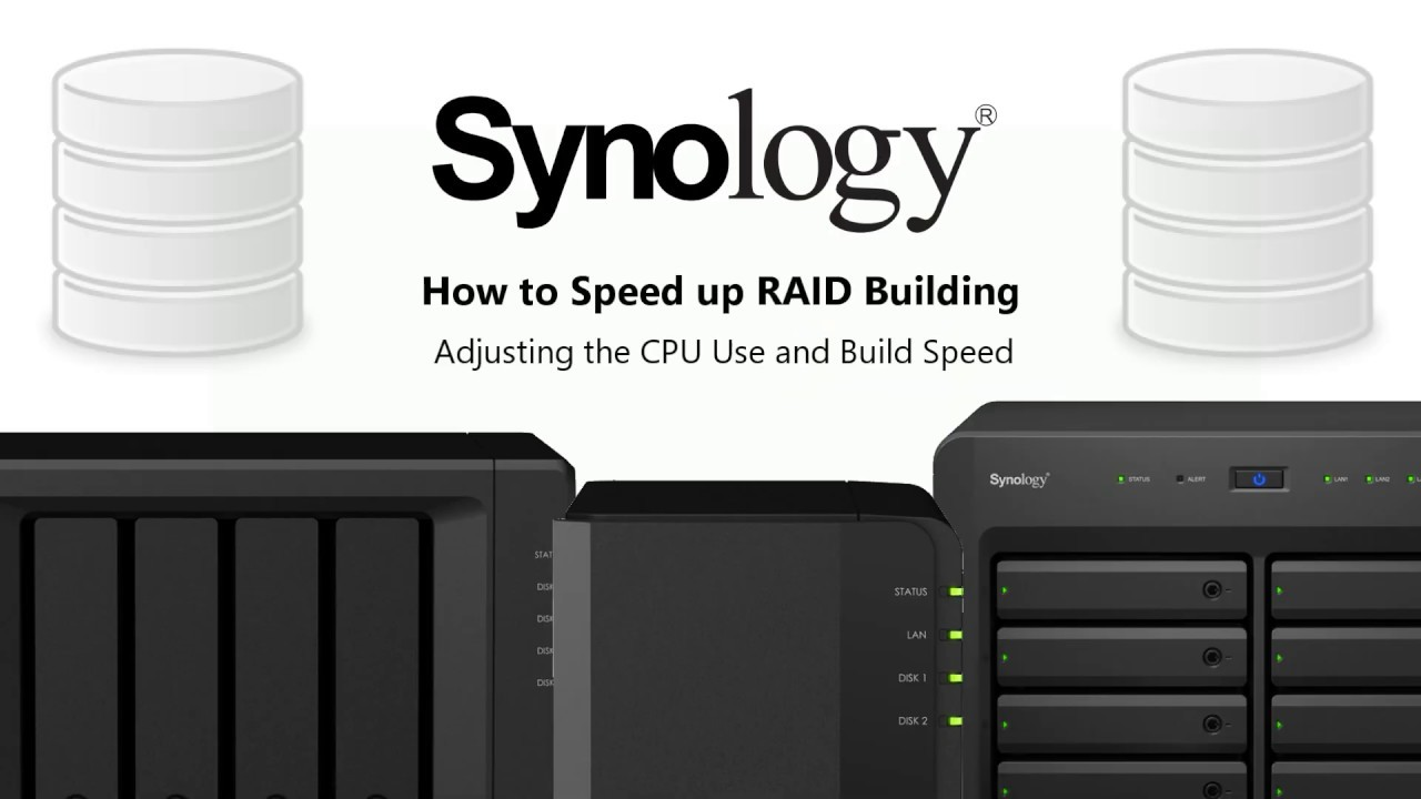 How to Speed Up RAID Building on your Synology NAS Drive