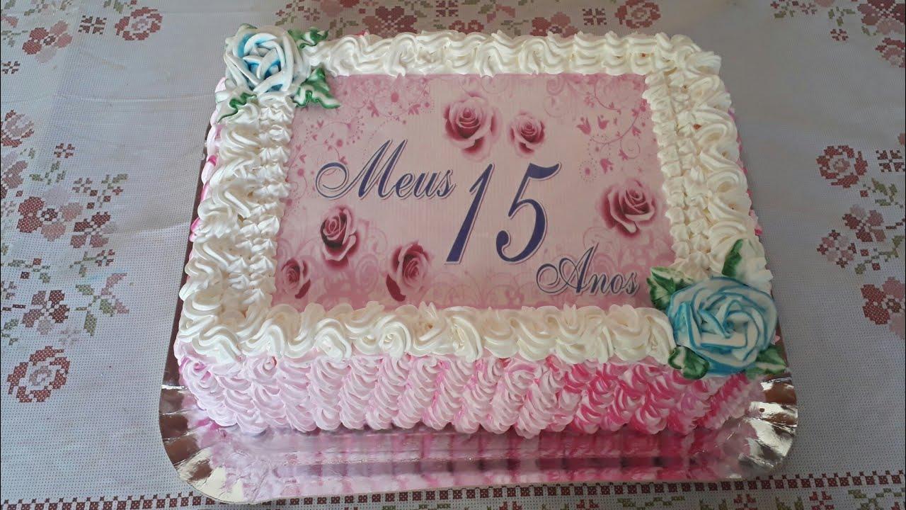 Festa De 15 Anos Simples: DECORANDO BOLO DE 15 ANOS COM PAPEL ARROZ