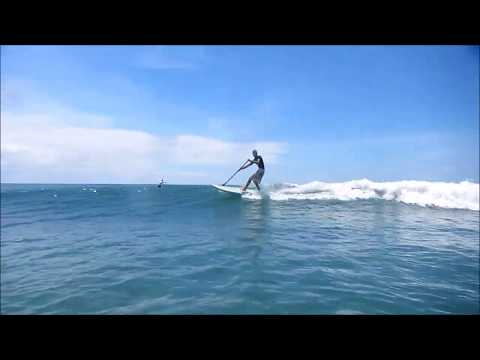 Stand Up Paddle training, Mahambo, Baie max