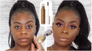 IS IT REALLY THE CURE?! FENTY BEAUTY PRO FILT'R CONCEALER AND SETTING POWDER REVIEW!