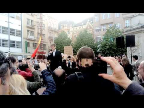 Babiš - demonstrace v Brně