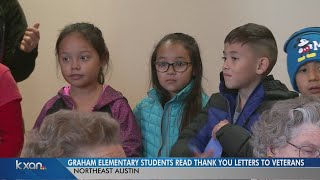 Graham Elementary students read thank-you letters to veterans