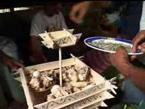 Subanen food offering