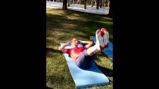 ОФП для лыжников - упражнения на мышцы пресса и спины
