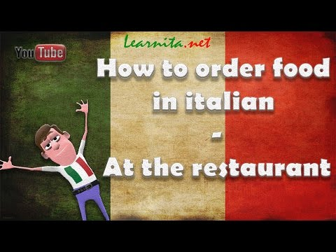 How to order food in italian - At the restaurant