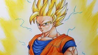How To Draw Goku Super Saiyan 2 - Tutorial