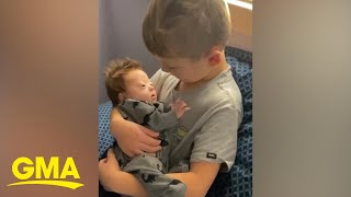 Boy sings '10,000 hours' to his infant brother and the song couldn't be sweeter | GMA Digital