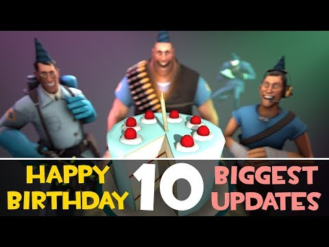 TF2: Top 10 BIGGEST Updates! [Team Fortress 2 10th Birthday]