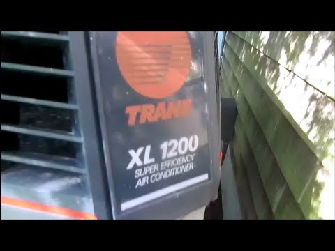 Hvac trane xl 1200 straight cool air conditioning tripping breaker, megohm meter test  YouTube