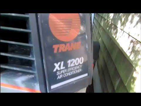 Hvac trane xl 1200 straight cool air conditioning tripping breaker, megohm meter test  YouTube