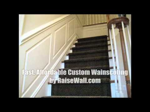 Stairs Wainscoting Panels Youtube