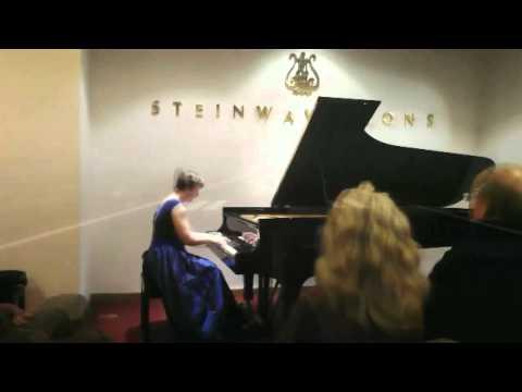 Carol Gould at Steinway Hall 2013