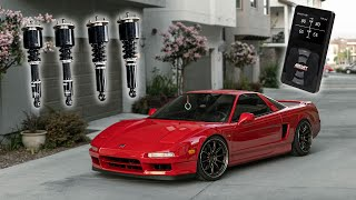 NSX SLAMMED ON COILOVERS + AIR + WORK WHEELS!