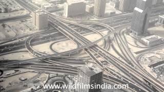 View of Dubai from Burj Khalifa