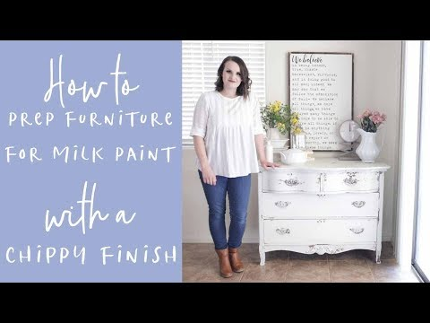 Introduction to Milk Paint How to Prep Your Furniture For a Chippy Finish