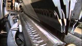 Warp Knitting Raschel Machine Fall Plate Technique