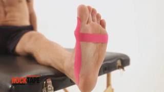 Тейпирование косточки большого пальца стопы от RockTape
