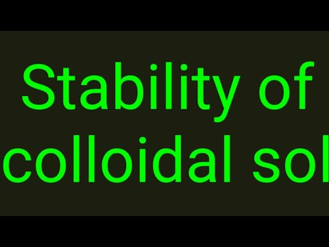 Stability of Colloidal Solution explained