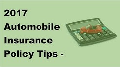 2017 Automobile Insurance Policy Tips   Importance of Van Insurance Policies