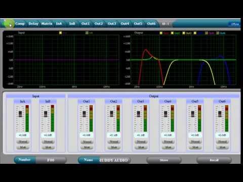 Setting Loudspeaker Management System Live 4 way