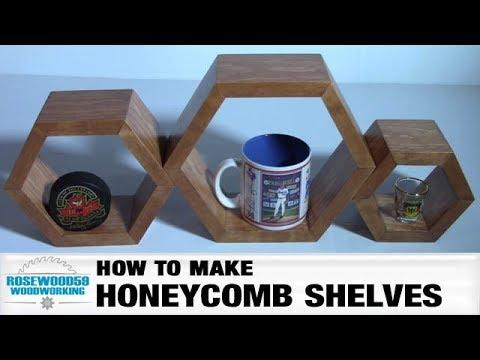 How To Make Honeycomb Shelves (Set of 3)