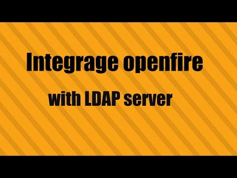 Integrate openfire with LDAP server
