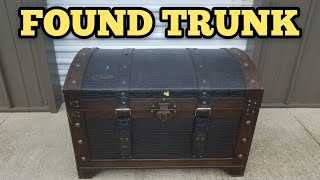 FOUND TRUNK I Bought Abandoned Storage Unit Locker Auction / Opening Mystery Boxes Storage Wars