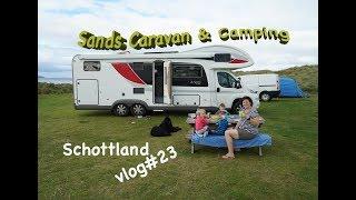 CAMPINGPLATZ Sands Caravan & Camping I Schottland 🚌 vlog#23