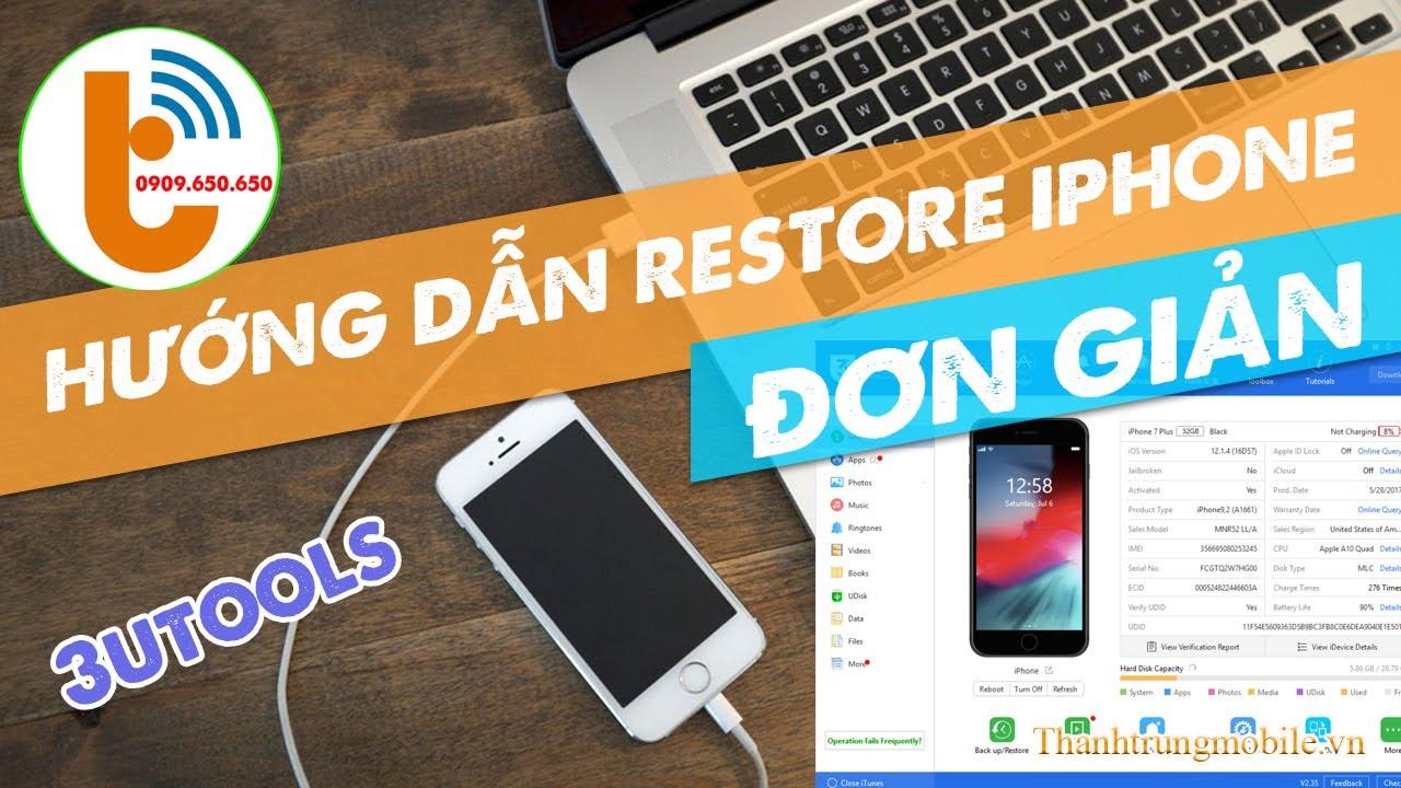 Hướng Dẫn Restore iPhone và Download Firmware iPhone