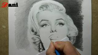Pencil drawing : Marilyn Monroe