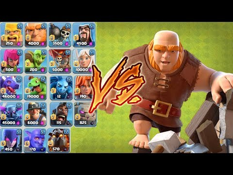 EVERY SINGLE TROOP VS. THE GIANT SURPRISE!! | Who's The Best? Ultimate Builder Giants Surprise - CoC